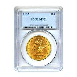 1883 $10 Liberty Gold Eagle PCGS MS61
