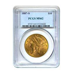1887-S $10 Liberty Gold Eagle PCGS MS62