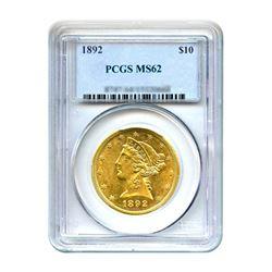 1892 $10 Liberty Gold Eagle PCGS MS62