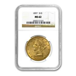 1897 $10 Liberty Gold Eagle NGC MS62