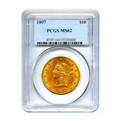 1897 $10 Liberty Gold Eagle PCGS MS62