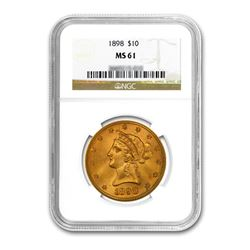 1898 $10 Liberty Gold Eagle NGC MS61
