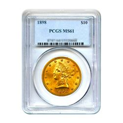 1898 $10 Liberty Gold Eagle PCGS MS61