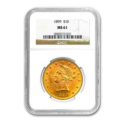 1899 $10 Liberty Gold Eagle NGC MS61