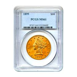 1899 $10 Liberty Gold Eagle PCGS MS61