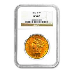 1899 $10 Liberty Gold Eagle NGC MS62