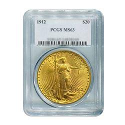1912 $20 Saint Gaudens PCGS MS63