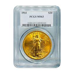 1914 $20 Saint Gaudens PCGS MS63