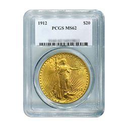 1912 $20 Saint Gaudens PCGS MS62