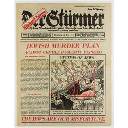 DER STURMER  ANTI-SEMITIC NEWSPAPER REPUBLISHED IN