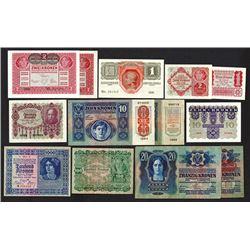 Oesterreichisch-Ungarische Bank, 1913-22 Issues.
