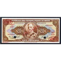 Republic dos Estados Unidos do Brazil Specimen Note.