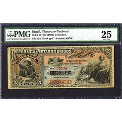 Republica Dos Estados Unidos, Est.9A (1890) Issue Banknote.