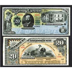 Banco de Caupolican; Banco de Curico. 1880s Issues.