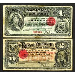 Banco Nacional de Santo Domingo. 1889 Issue.