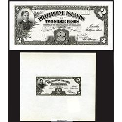 Philippine Islands Silver Certificate Unique Presentation Proof, $2, Series of 1906, Unlisted Proof.