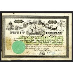New Orleans & Bay Island Fruit Co. 1872.