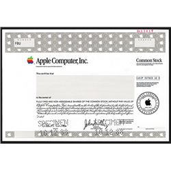 Apple Computer, Inc., Specimen Stock.