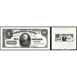 U.S. Legal Tender Treasury Note, Unique Presentation Proof, $10, Series of 1890, Fr.#366 Unlisted Pr