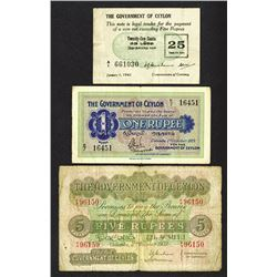 Government of Ceylon. 1925-42 Issues.