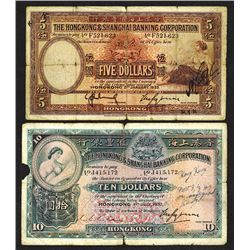Hong Kong & Shanghai Banking Corp. 1933, 1937 Issue.
