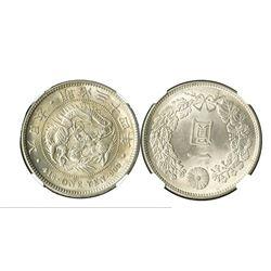 Japan, M34 (1901) 1 Yen, Coiled Dragon Dollar.