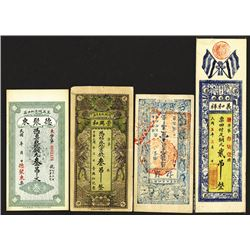 China Private & Local Banknote Assortment ca.1900 to 1931.