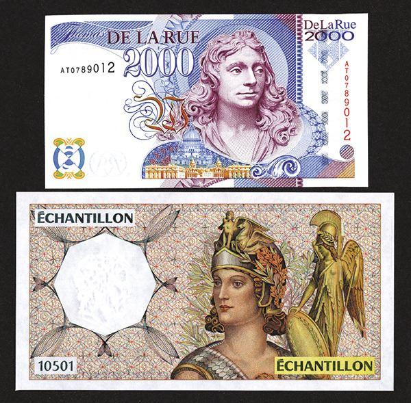 De La Rue 2000 with IBNS World Paper Money Fair 1998