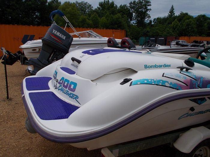 1997 SEA DOO CHALLENGER JET BOAT, VIN/SN:CECA1210B797 - ROTAX 110 MOTOR,  W/SINGLE AXLE TRAILER