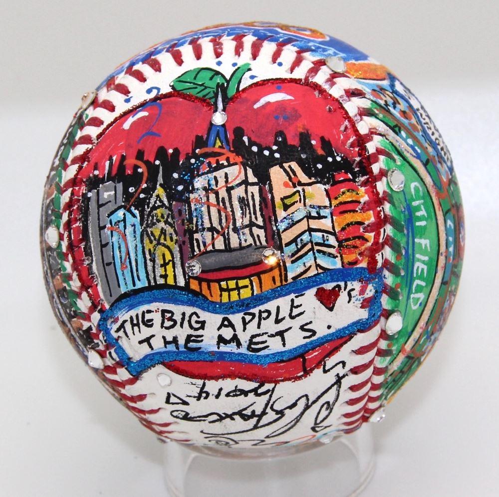 Charles Fazzino Signed Mets Custom Hand-Painted 3D Art