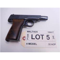 WALTHER ,  MODEL: 4 MODEL ,  CALIBER: .32 ACP