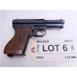 MAUSER ,  MODEL: 1914 ,  CALIBER: 7.65 MM