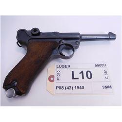 LUGER ,  MODEL: P08 (42 MAUSER FACTORY) ,  CALIBER: 9MM