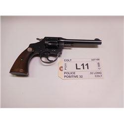 COLT ,  MODEL: POLICE POSITIVE 32  ,  CALIBER: .32 LONG COLT