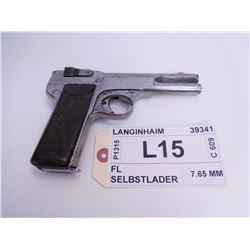 LANGENHAN ,  MODEL: FL SELBSTLADER ,  CALIBER: 7.65 MM