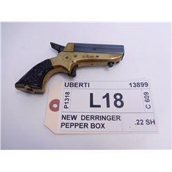 UBERTI ,  MODEL: NEW DERRINGER PEPPER BOX ,  CALIBER: .22 SH