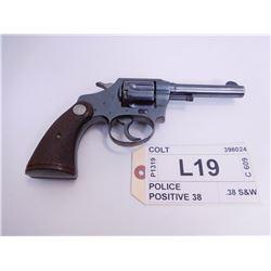 COLT ,  MODEL: POLICE POSITIVE 38 ,  CALIBER: .38 S&W