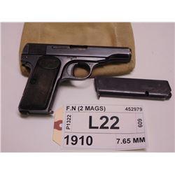 F.N ,  MODEL: 1910 ,  CALIBER: 7.65 MM