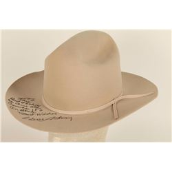 Stetson Autographed by Gene Autry