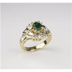 Exquisite Tsavorite Garnet Ladies Ring