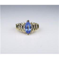 Dazzling Tanzanite & Diamond Ring
