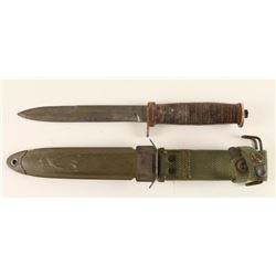 Commercial M3 Fighting Knife w/Scabbard
