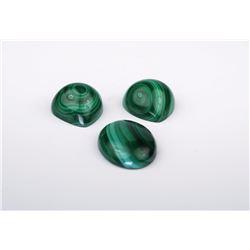 Lot of 3 Malachite Stones