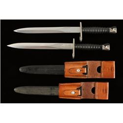 Lot of 2 Swiss 1957 Bayonets