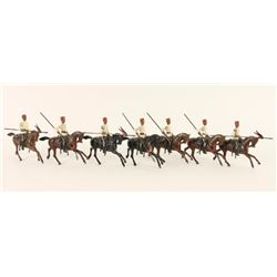 Collection of 7 Lead Soldiers on Horseback