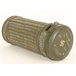 German WWII Gas Mask with Original Container
