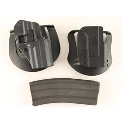 Lot of 2 Holsters & 1 Mag