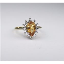 Precious Imperial Topaz & Diamond Ring
