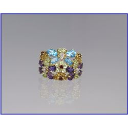 Enchanting Multi-Gem Fashion Ring
