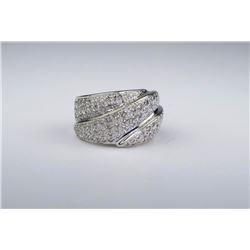 Stylishly Sculptured Wide Diamond Band